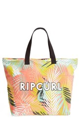 Rip Curl Miami Vibes Palm Print Beach Tote Orange Multico
