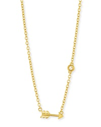 Shy By Sydney Evan Arrow Bezel Diamond Pendant Necklace