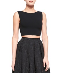 Michael Kors Sleeveless Knit Crop Top Black
