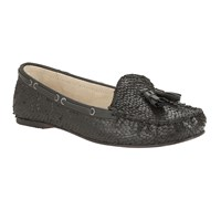Ravel Eloy Snake Effect Slip On Loafers Black