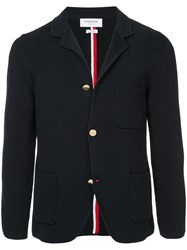 Thom Browne Sport Coat With Milano Stitch And Red Blue