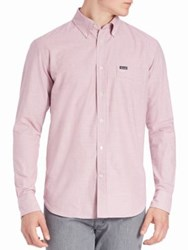 Faconnable Houndstooth Button Down Shirt Pink Multi