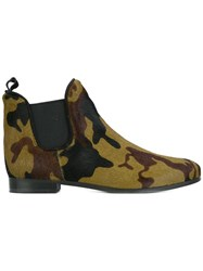 P.A.R.O.S.H. Camouflage Print Boots Green