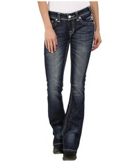 Rock And Roll Cowgirl Rival Bootcut In Dark Vintage W6 6445 Dark Vintage Women's Jeans Navy
