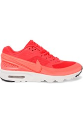 Nike Air Max Bw Ultra Mesh And Leather Sneakers Crimson