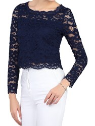 Jolie Moi Scalloped Flare Sleeve Lace Top Ivory