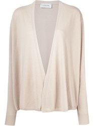 Christophe Lemaire Lemaire Open Knit Cardigan Nude And Neutrals