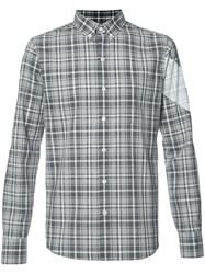 Moncler Gamme Bleu Checked Shirt Grey