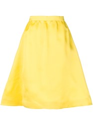 Balenciaga Vintage Flared A Line Skirt Yellow And Orange