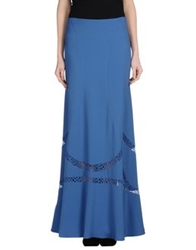 Alberta Ferretti Long Skirts Pastel Blue