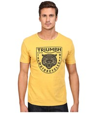 Lucky Brand Triumph Tiger Head Graphic Tee Golden Spice Men's T Shirt Yellow