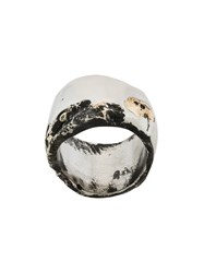 Lost And Found Ria Dunn Pitted Crater Ring Stainless Steel Metallic