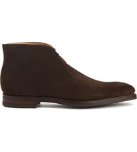 Crockett Jones Tetbury Chukka Desert Boots Dark Brown
