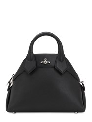 Vivienne Westwood Windsor Grained Leather Top Handle Bag Black