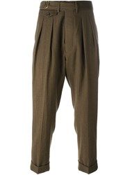 Lardini Pleated Tailored Trousers Green