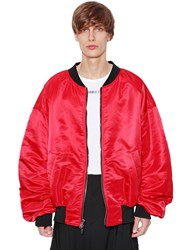 Juun.J Reversible Nylon Bomber Jacket Black Red