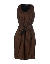 Caractere Short Dresses Dark Brown
