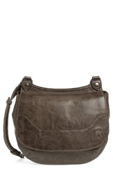 Frye 'Melissa' Leather Crossbody Bag Grey Ice