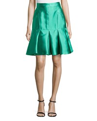 J. Mendel Pleated Scuba Trumpet Skirt Cargo