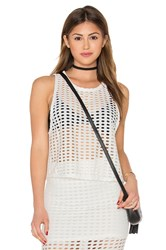 Kendall Kylie Laser Cut Out Tank White