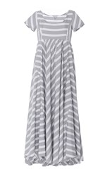 Thierry Colson Romy Grey Nautical Stripes Dress