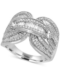 Effy Classique By Diamond Baguette Ring 1 1 8 Ct. T.W. In 14K White Gold