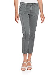 Saks Fifth Avenue Cropped Cargo Pants Smoked Pea