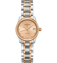 Longines L2.128.5.99.7 Master Rose Gold And Diamond Watch