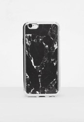 Missguided Black Marble I Phone 6 Case