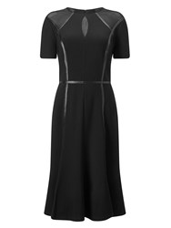 Jacques Vert Detail Trim Edge Mesh Dress Black