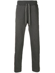 Dolce And Gabbana Side Stripe Track Pants Grey