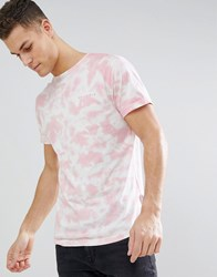 Bellfield T Shirt With Cloud Print Washed Pink