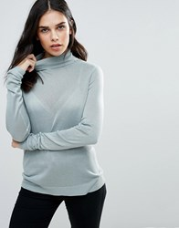 Vila Jersey Polo Neck Jumper Slate Grey