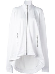 Marques Almeida Marques'almeida 'Oversized' Zip Up Cardigan White
