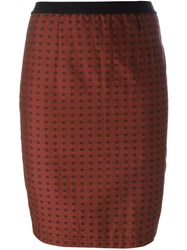 Jean Paul Gaultier Vintage Rhombus Print Skirt Brown
