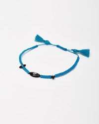 I A M By Ileana Makri Dark Sky Blue Eye Cord Bracelet