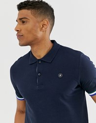Jack And Jones Originals Polo With Taping In Navy