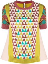 Antonio Marras Geometric Pattern Knitted Top 60