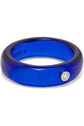 Grace Lee Resin And Diamond Ring Blue