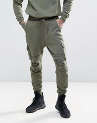 Cayler And Sons Cargo Joggers With Scorpion Embroidery Khaki Green