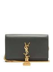 Saint Laurent Kate Monogram Leather Cross Body Bag Dark Green