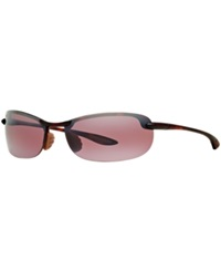Maui Jim Sunglasses Maui Jim 405 Makaha 65 Tortoise Matte Pink Mirrored Polarized