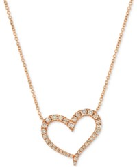 Le Vian Strawberry And Nude Diamond 18 Pendant Necklace 1 2 Ct. T.W. In 14K Rose Gold