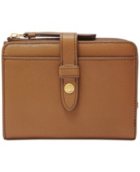 Fossil Fiona Multifunction Wallet Saddle