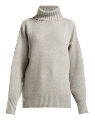 Extreme Cashmere No.20 Oversized Cashmere Blend Roll Neck Sweater Grey
