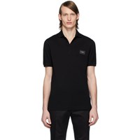 Dolce And Gabbana Black Branded Plate Polo
