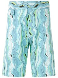 Amir Slama Printed Swim Short Blue