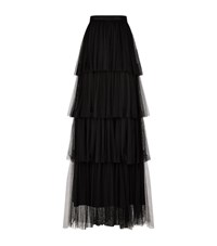 Pinko Layered Net Skirt Female Black