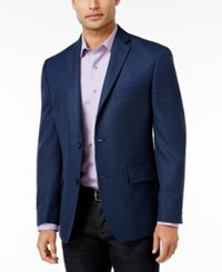 Alfani Men's Slim Fit Soft Navy Houndstooth Jacket Only At Macy's