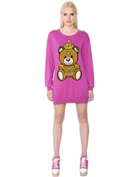 Moschino Teddy Bear Intarsia Cotton Sweater Dress